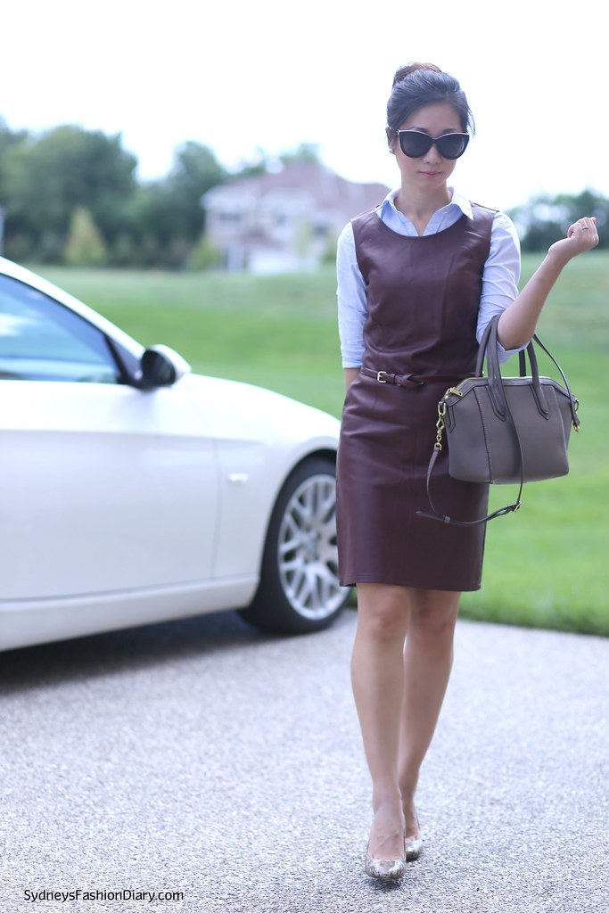 The Limited Leather Sheath Dress