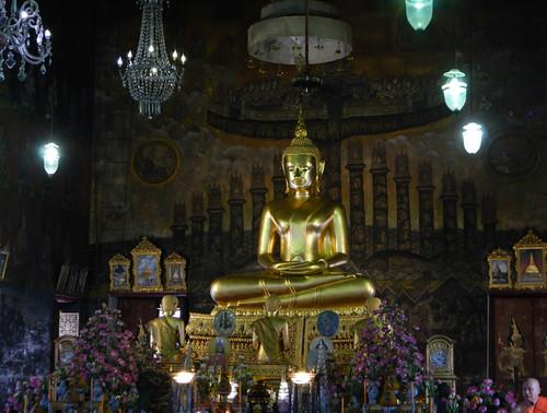 Golden Buddha at a Bangkok Wat
