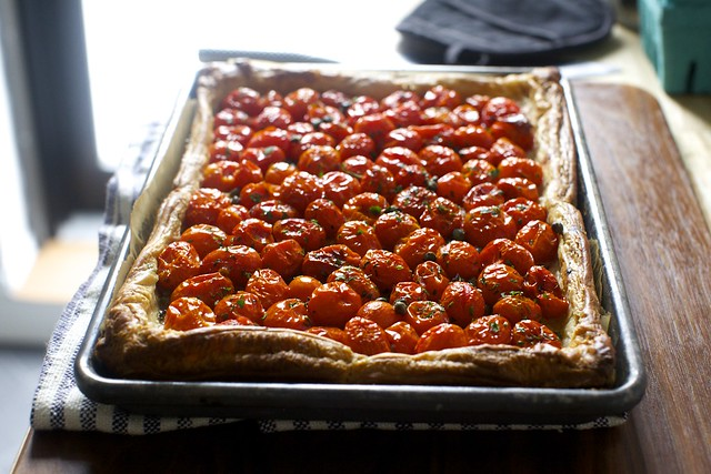 Roasted Tomatoes Ina Garten herbed tomato and roasted garlic tart – smitten kitchen