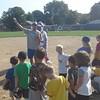 Lansing Lugnuts coach at CADL Leslie