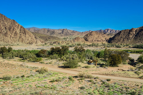 C13 road between the mountains and the Orange river, Namibia