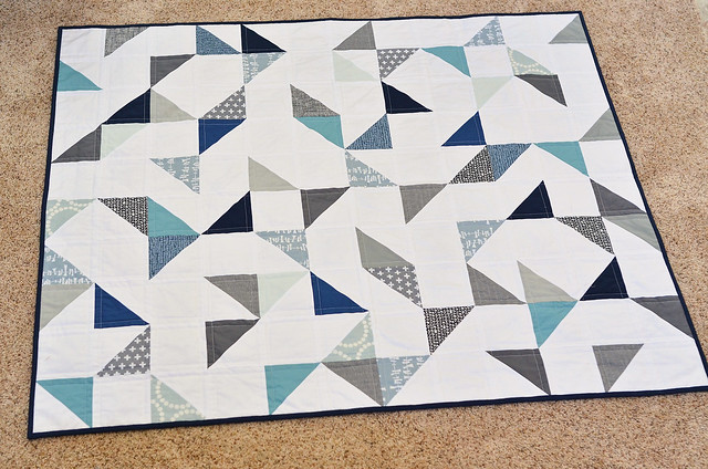 cloudy day baby quilt