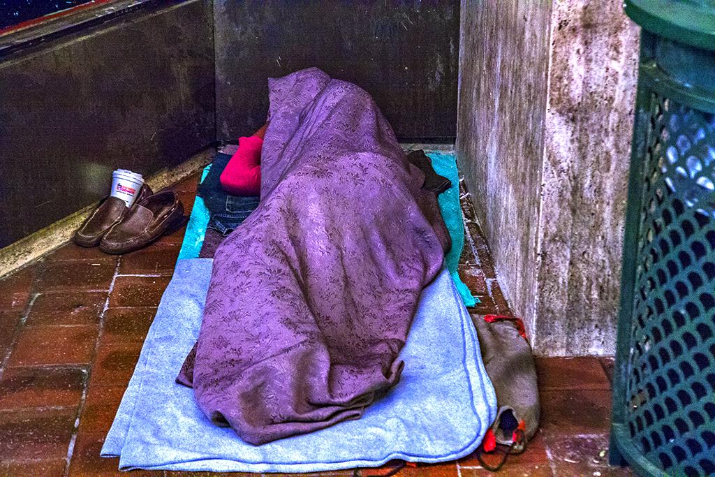 Woman-sleeping-outside-Gallery-on-6-23-14