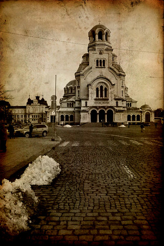 road street old winter snow texture church monument lines architecture facade paper landscape temple europe cathedral sofia dirty christian bulgaria christianity alexander balkans eastern orthodox nevsky
