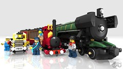 Narrow Gauge Steam Engine - Lord Basil and and the Emerald Express