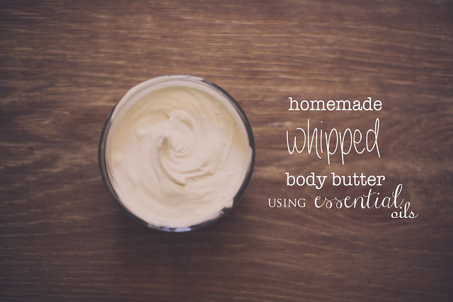 Very easy recipe to make Homemade Whipped Body Butter, using Essential Oils