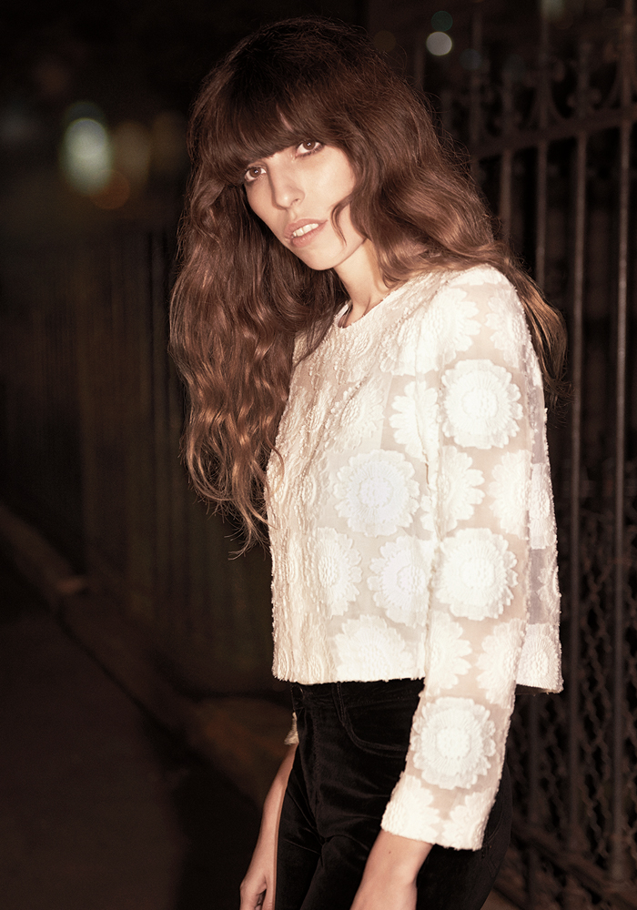 barbara crespo maje french fashion brand autumn winter 2104/2015 lou doillon campaign fashion blogger outfits blog de moda