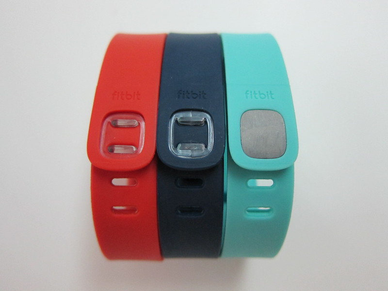 Fitbit Flex Accessory Wristbands - Tangerine, Navy & Teal - Back