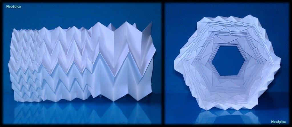 Paper Cylinder With Fractal Fold