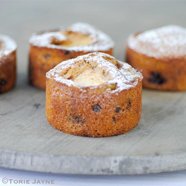 Gluten free mini apple & blackberry cakes