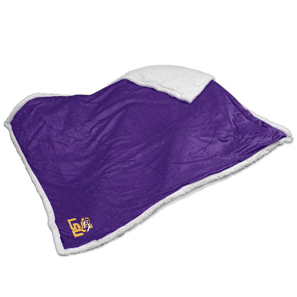 LSU Tigers NCAA Sherpa Blanket