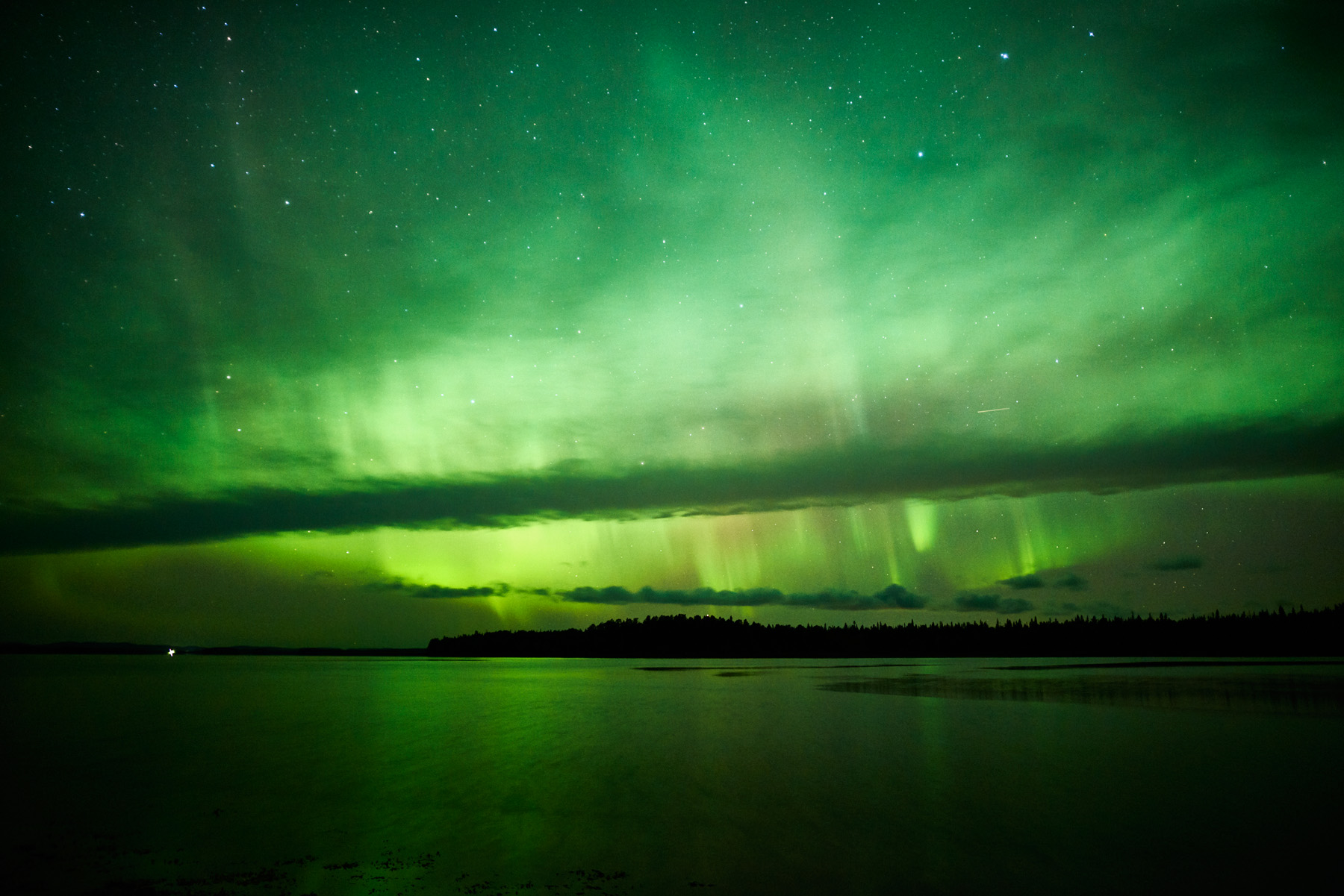 Aurora at the White sea