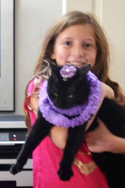 Caitlin and (a Very Patient) Luna