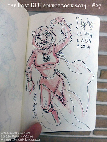 09-22-2014 #dailydrawing #lostRPG Flying Lion Lass