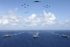 In this June 18, 2006 file photo, 14 ships and 17 aircraft