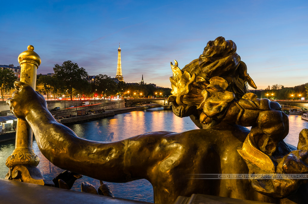 Pont Alexandre III and Eiffel Tower