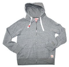 Mens Zip-Up Tri-blend Sweatshirt - Gray
