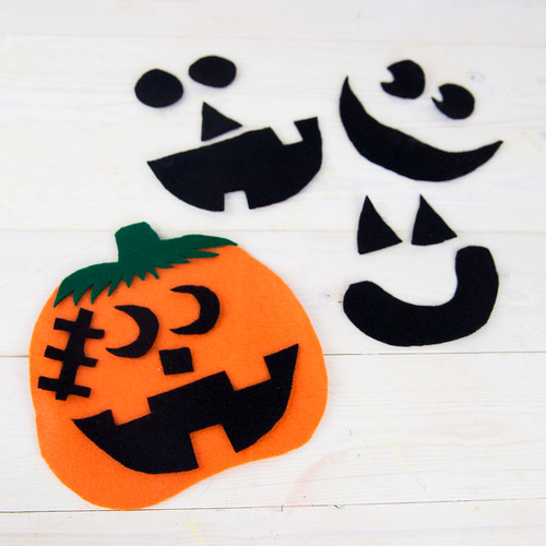 Felt Pumpkin Preschool Craft