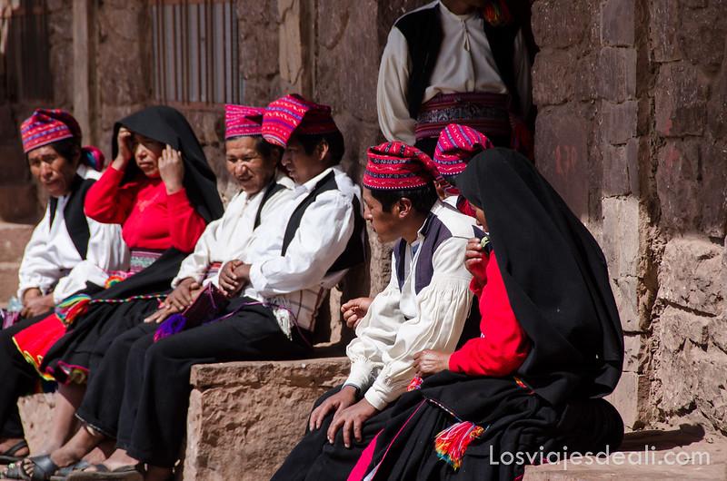 islas del lago Titicaca: gente de Taquile