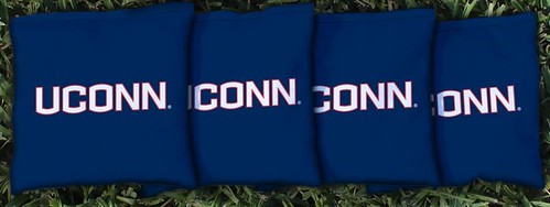 CONNECTICUT UCONN HUSKIES BLUE CORNHOLE BAGS
