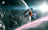 Caldari Hookbill - Space Scene