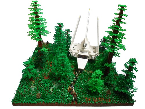 Rebels landing on Endor, by StarWarsKev, on Flickr