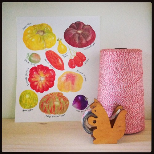 Heirloom tomato prints are almost ready! Planning to add these to the shop on Friday morning! #migrationgoods #watercolor #tomatoes