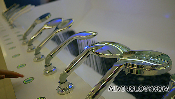 Go nuts with the different Grohe showers at the Grohe Live! Center