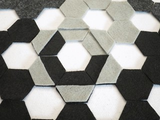 Iron Craft '14 Challenge #19 - Felt Hexagon Wall Art