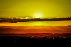 Sun illuminates the Earth's surface