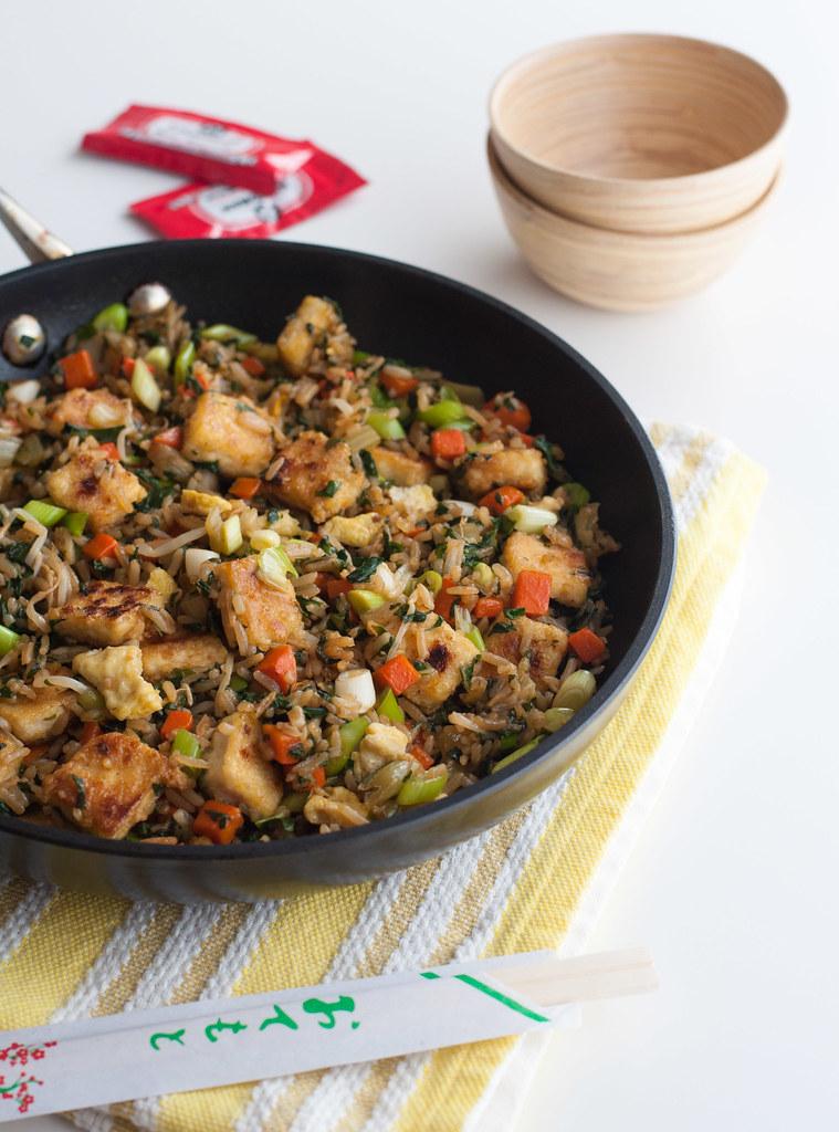 Pan of fried rice