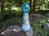 Mosaic gazing ball pedestal