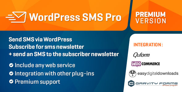 WP SMS Professional Package v2.2.5