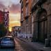 Urban sunset by agedsenator