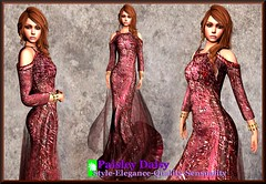 Paisley Daisy - Provocative Gown Red