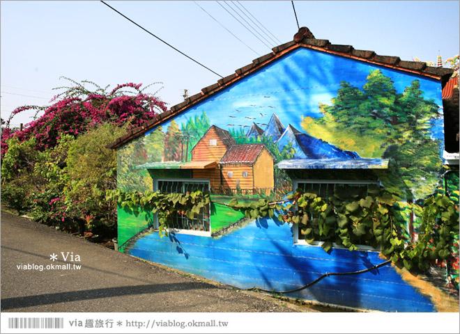【關廟彩繪村】新光里彩繪村~在北寮老街裡散步‧遇見全台最藝術風味的彩繪村10