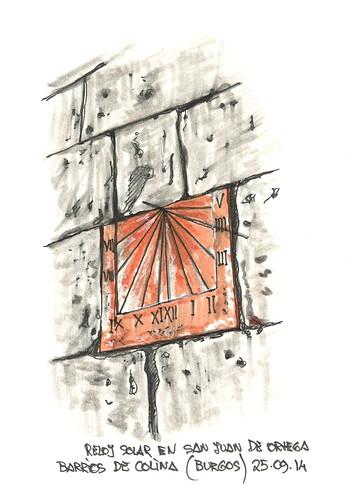 Reloj de sol en el monasterio de San Juan de Ortega, Barrios de Colina (Burgos)