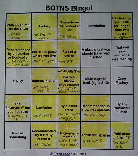 BOTNS Bingo - September