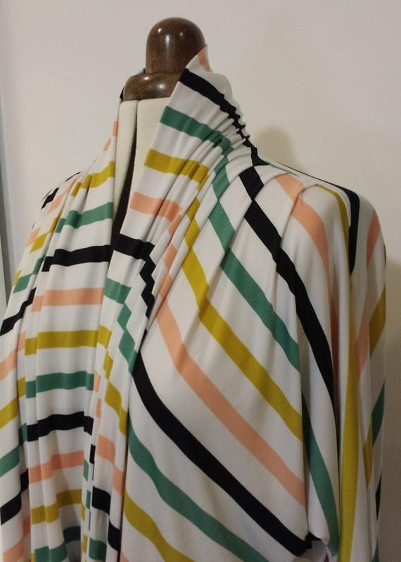McCalls 6841 in stripe knit from Darn Cheap Fabrics