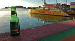 Wadadli beer and catamaran