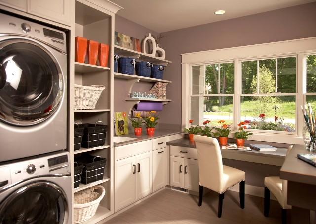Clean & Simple | Laundry Room Decor | #LivingAfterMidnite