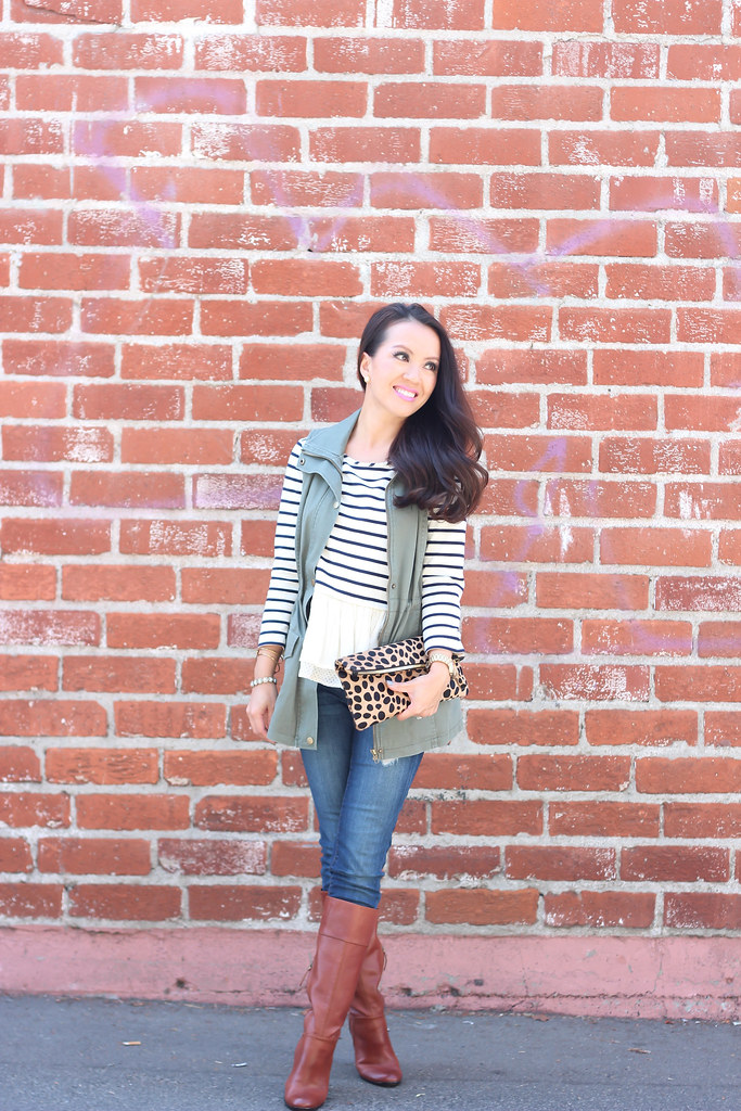 Olive Vest and Stripes-5