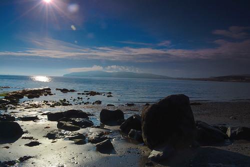 isleofman sun cloud beach sky water sea rocks sand seascape landscape nikon d5200 1855mm horizon seaside shore balladoole sunburst coast rock ocean