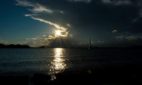 ocean blue sunset sunlight galveston texas sunrays nikonphotography