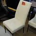 White fleece occasional chair