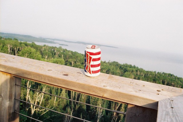 Budweiser on Lake Superior