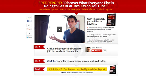 Landing Page Template To Skyrocket YouTube Rankings