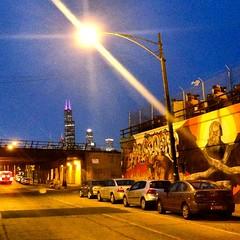 Sears Tower in Pink #searstower #Chicago #mural #pilsen #streetart #pilsenstreetart