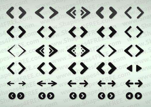70+ Web Arrows Vector Icons