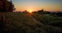 Grassy Beach Sunset - Old Mission Peninsula